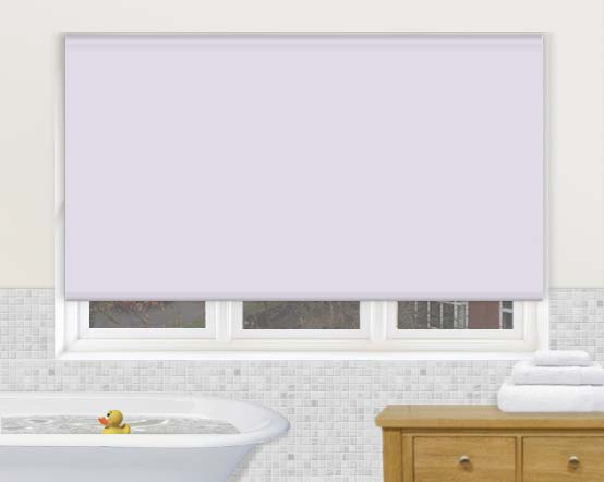 Aqua Lilac Pale Purple Waterproof Bathroom Roller Blinds