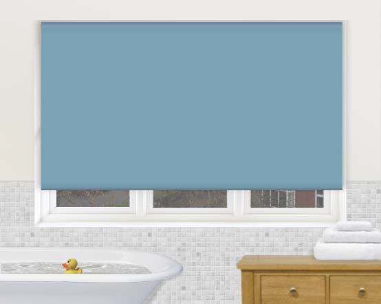 Aqua sea green waterproof kitchen bathroom roller blinds - Bathroom shades waterproof ...