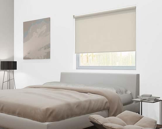 Ivory Sparkle Solar Reflective Light Cream Roller Blinds