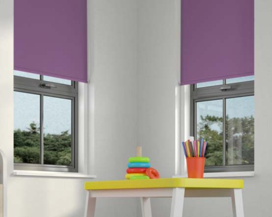 Purple Roller Shades : Cormais emperor purple roller blind